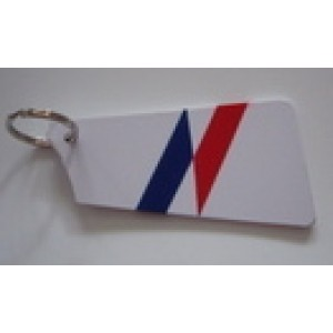 Painted Bow Blade  Key Tag
