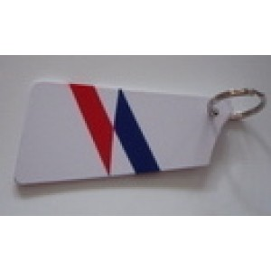 Painted Stroke Blade  Key Tag