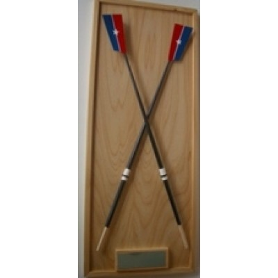 Wall Rack  [ crossed oars ]